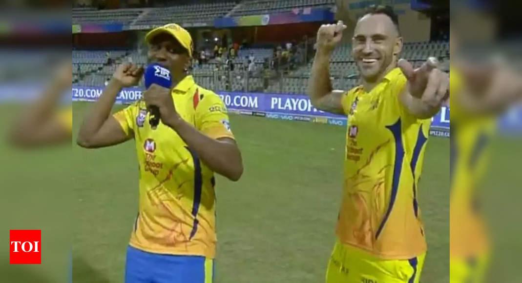 IPL 2021: Faf du Plessis, Dwayne Bravo, Imran Tahir arrive in Dubai to join CSK | Cricket News – Times of India