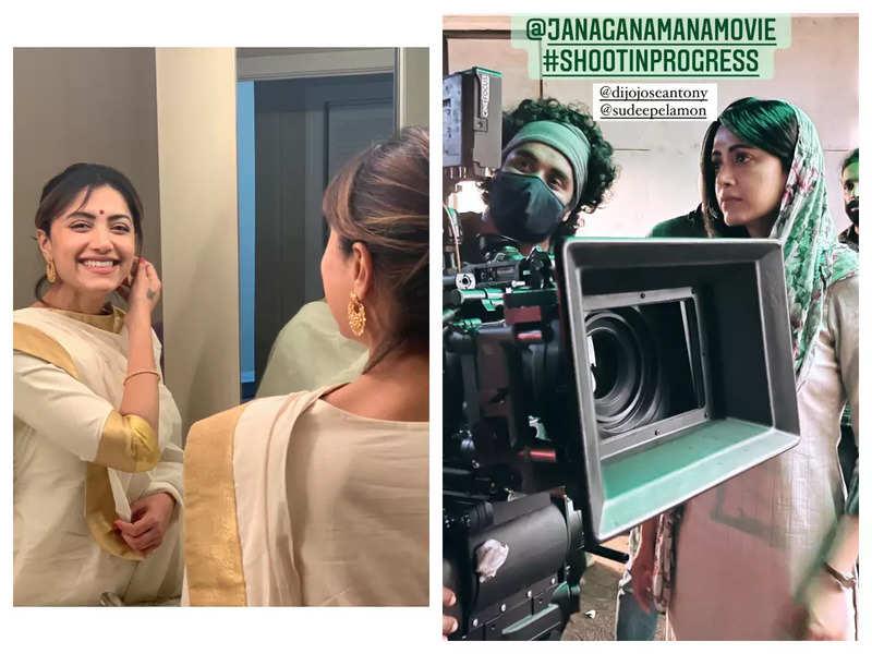Mamta Mohandas films for 'Jana Gana Mana'
