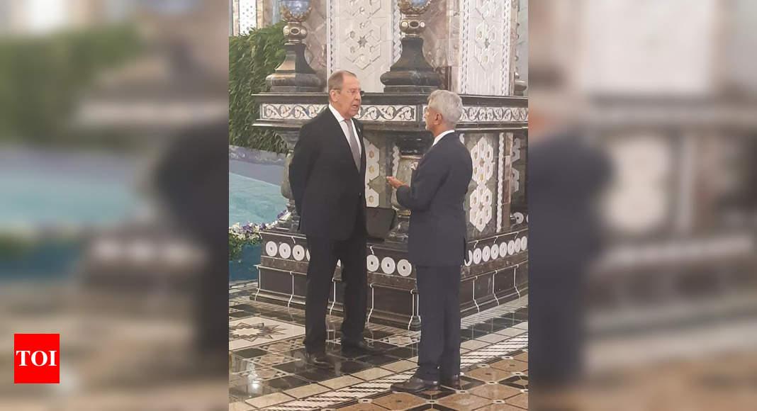 Jaishankar meets Russian counterpart Lavrov at SCO summit, discusses Afghanistan
