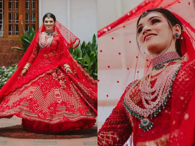This doctor wore a red lehenga for her Nikah