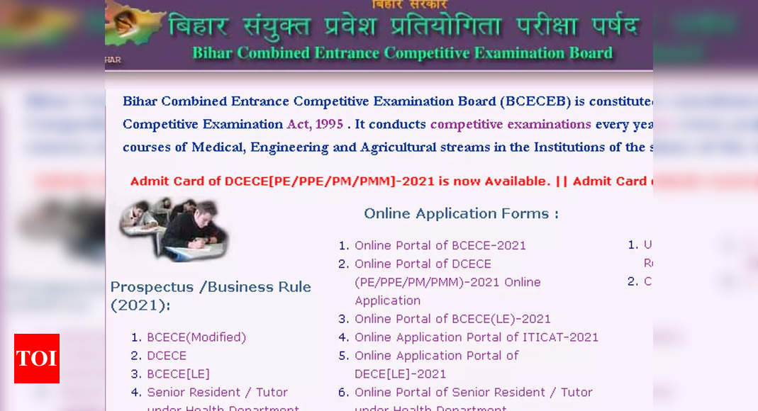 BCECEB DCECE Admit Card 2021 released, download here