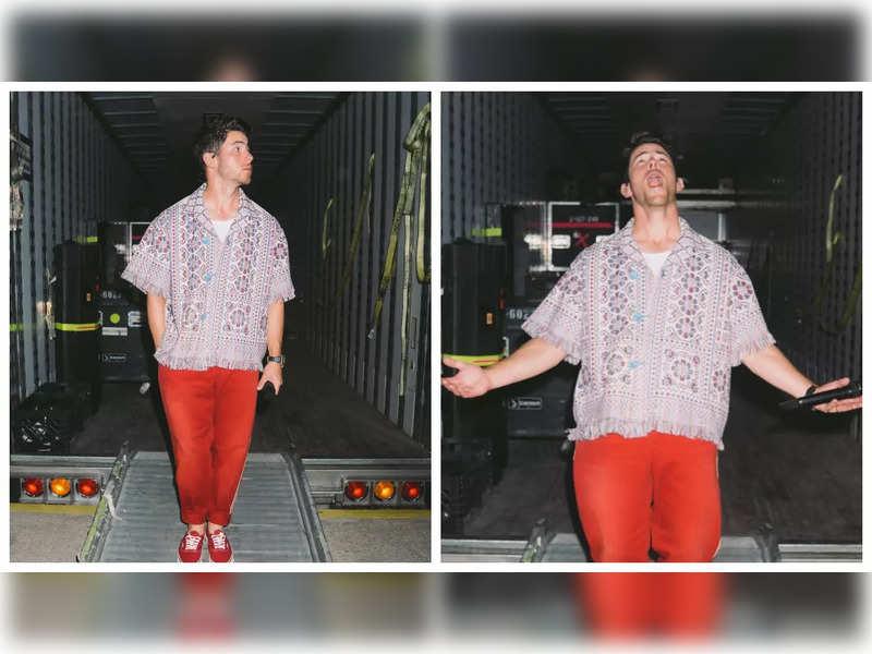 Netizens react to Nick Jonas' traditional t-shirt, say it reminded them of 'Solapuri chaddar'