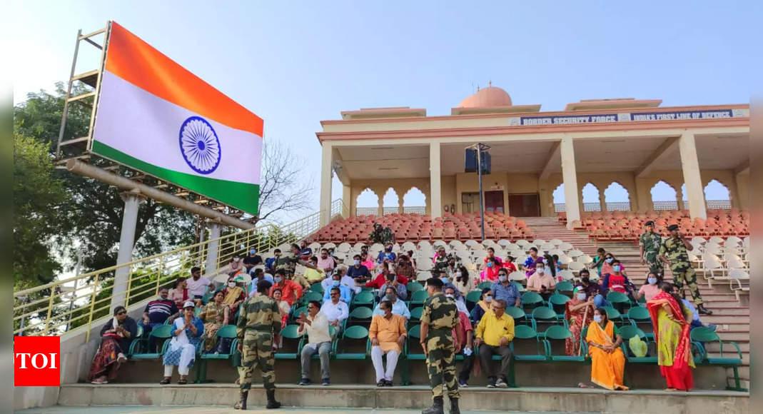 BSF resumes public viewing of Beating Retreat ceremony at Attari border