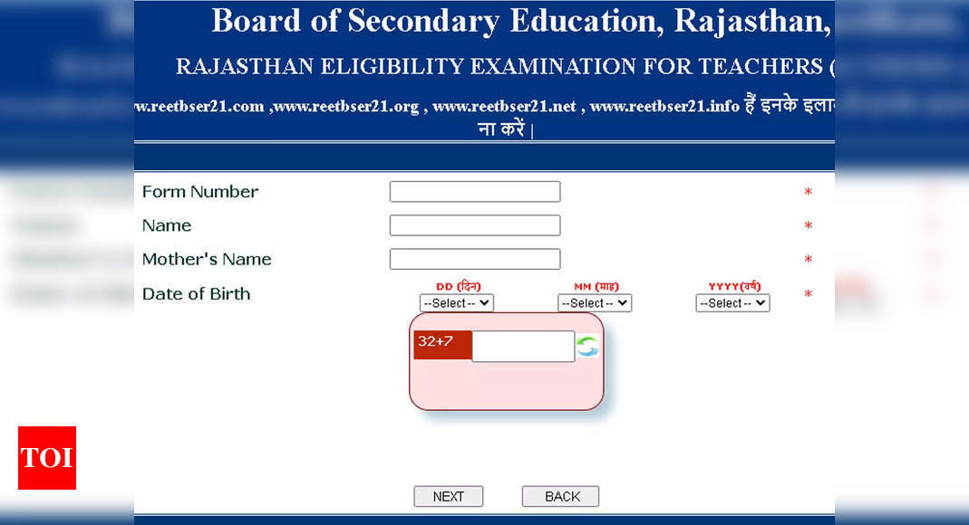 REET Admit Card 2021 released at reetbser21.com