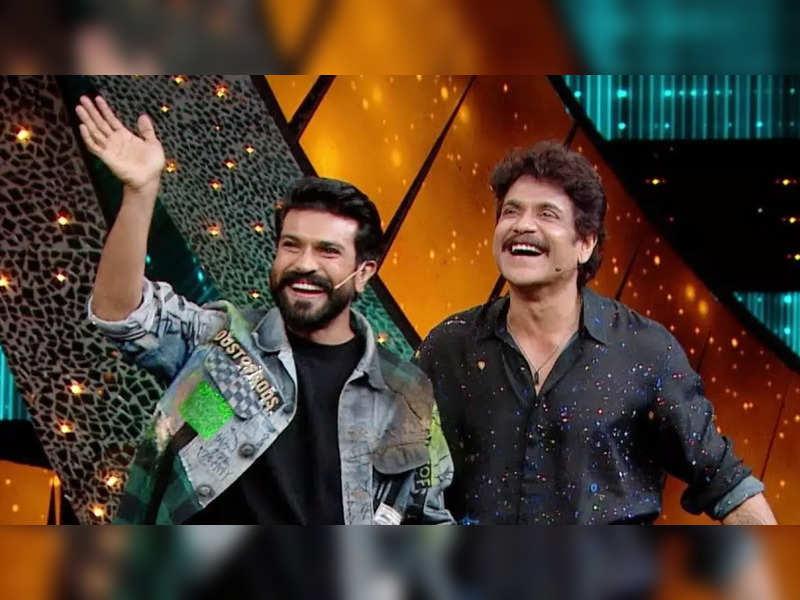 ram charan: Bigg Boss Telugu 5: Ram Charan to leave the housemates surprised; host Nagarjuna pulls their leg, watch - Times of India