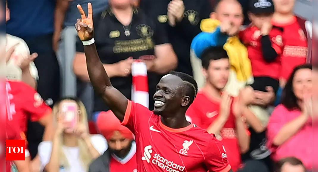 Sadio Mane:  Ton-up for Sadio Mane as Liverpool down Crystal Palace 3-0 | Football News – Times of India