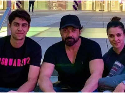 Bobby Deol drops a happy family pic with son