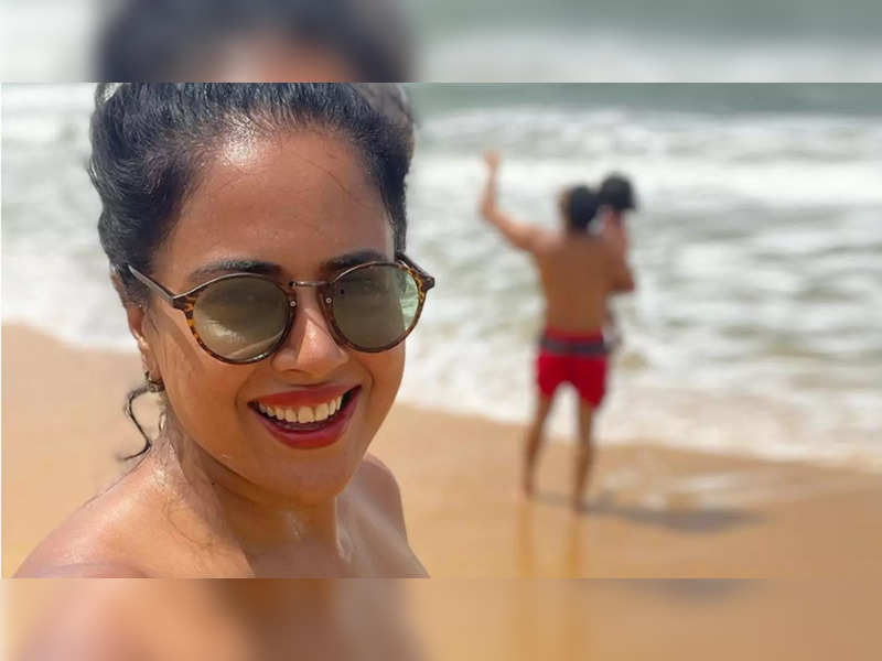 Sameera Reddy embraces her 'yummy Indian complexion' as she shares a sunkissed selfie from her Goan getaway
