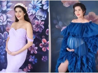 Charu looks gorgeous in her maternity shoot
