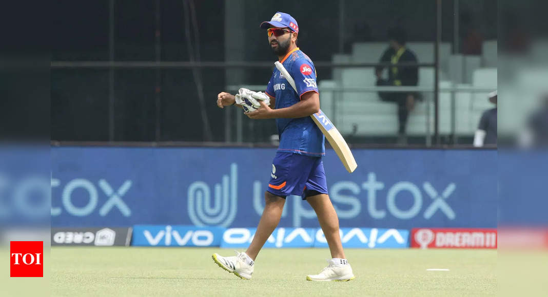 rohit:  IPL 2021, CSK vs MI: Rohit Sharma rested due to knee niggle | Cricket News – Times of India