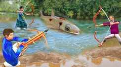 Popular Children Hindi Nursery Story 'Primitive Bamboo Fishing' for Kids - Check out Fun Kids Nursery Rhymes And Baby Songs In Hindi