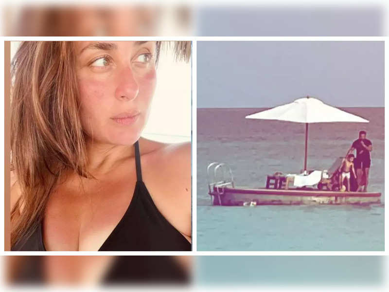 Kareena Kapoor Khan shares a glimpse of Saif Ali Khan and Taimur's little adventure on their vacation, see pic