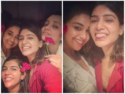 Samantha, Trisha & others pose together