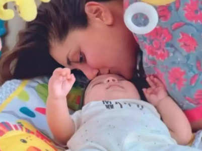 Bebo captures Jeh Ali Khan's playful mood
