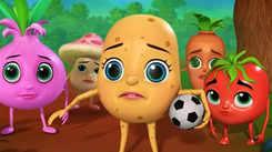 Nursery Rhymes in Telugu: Children Video Song in Telugu 'Potato Playing with Friends - ఆలూ స్నేహితులతో ఆడుతోంది'