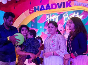 Hema Sathish celebrated Shaadvik's B'day