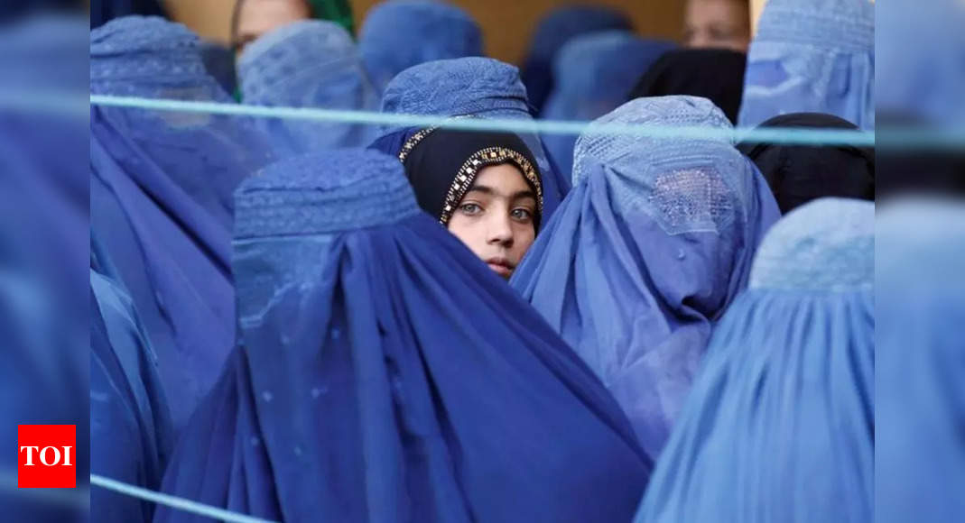 taliban: Afghan high school girls rally against Taliban – Times of India