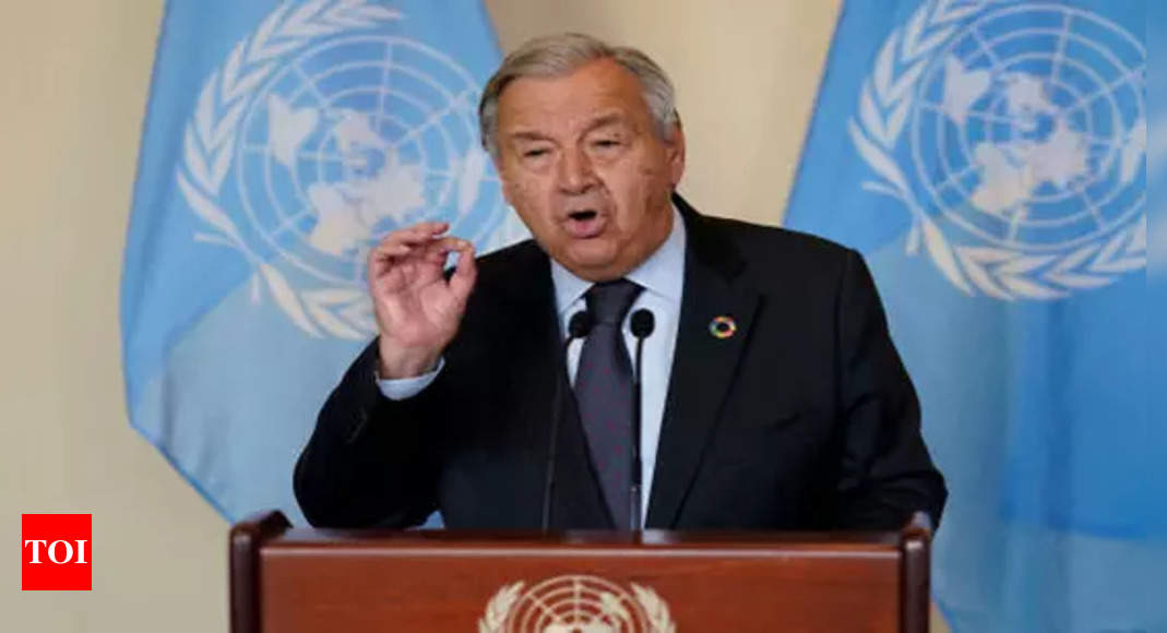 guterres:  US, China, India, Europe need to do maximum to reduce greenhouse emissions without waiting for others: UN – Times of India