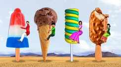 Popular Children Hindi Nursery Story 'Giant Magical Ice Cream' for Kids - Check out Fun Kids Nursery Rhymes And Baby Songs In Hindi