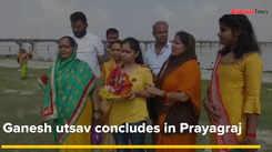 Ganesh utsav concludes in Prayagraj