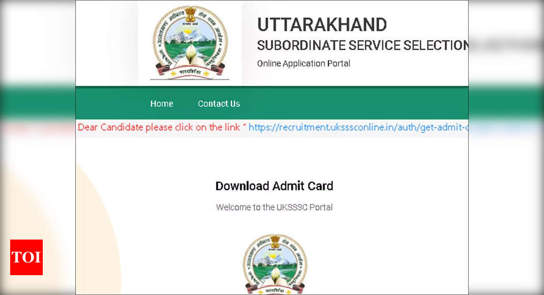 UKSSSC Security Guard Admit Card 2021 released, download here