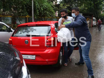 Raj Kundra in tears as he returns home