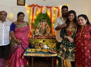 Priyanka Chincholi's Ganesh Chaturthi celebrations