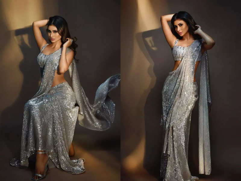 Mouni Roy's sari-gown is the perfect reception outfit
