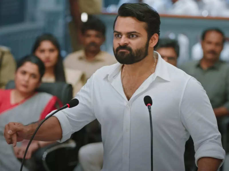 Republic trailer: Chiranjeevi gives an update about Sai Dharam Tej's health while releasing the trailer