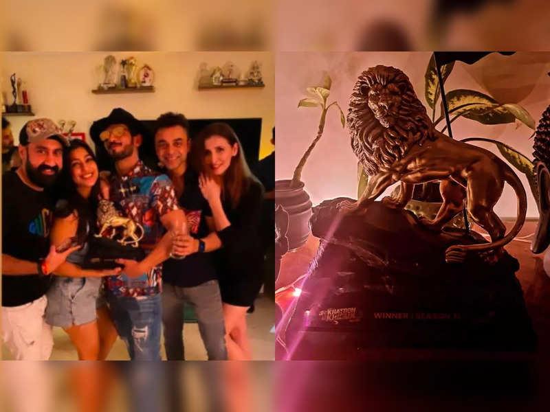 Khatron Ke Khiladi 11: Is Arjun Bijlani the winner? His wife shares a peek of the winning trophy