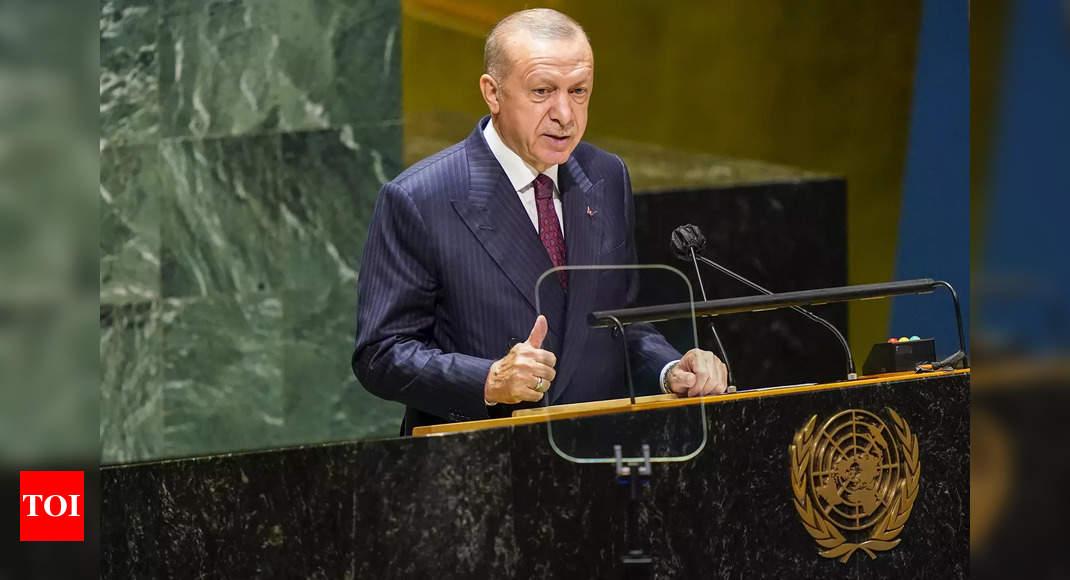 Turkish president Erdogan again makes reference to Kashmir in UNGA address