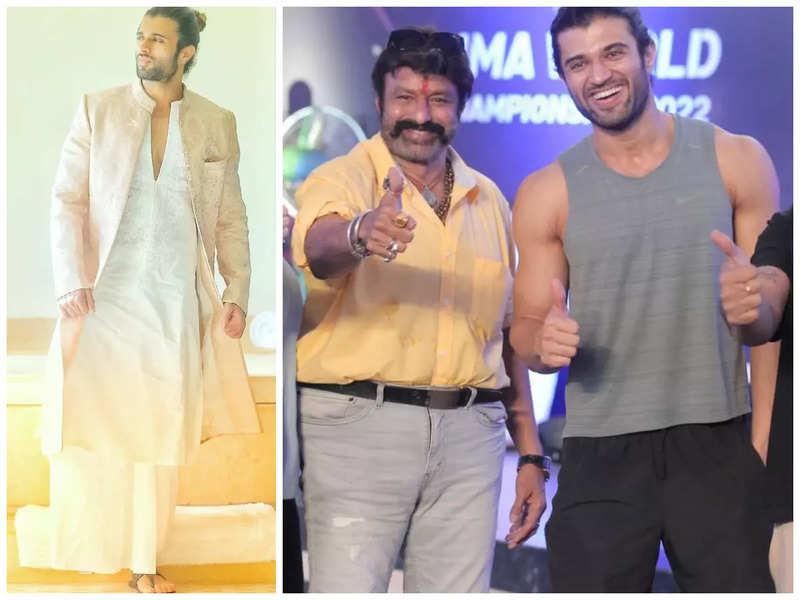 Excited Vijay Deverakonda says 'Jai Balayya' after Balakrishna visits the sets of Liger