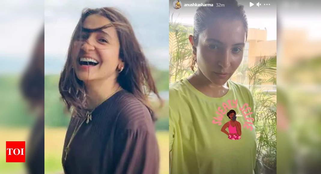 Anushka's post workout selfie is unmissable