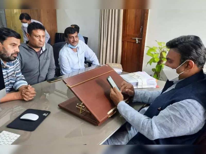 Kannada producers with Dr K Sudhakar