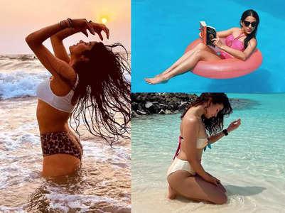 Janhvi to Sara: Celebs' stunning bikini pics