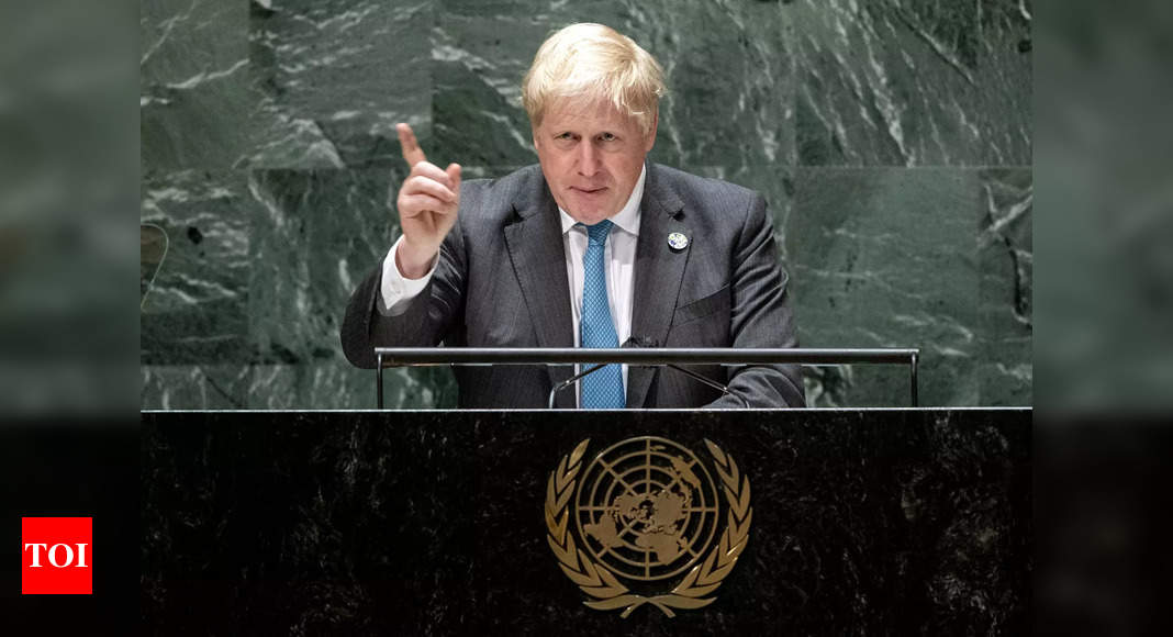 johnson: 'Get a grip': British PM Johnson tells France after submarine row – Times of India