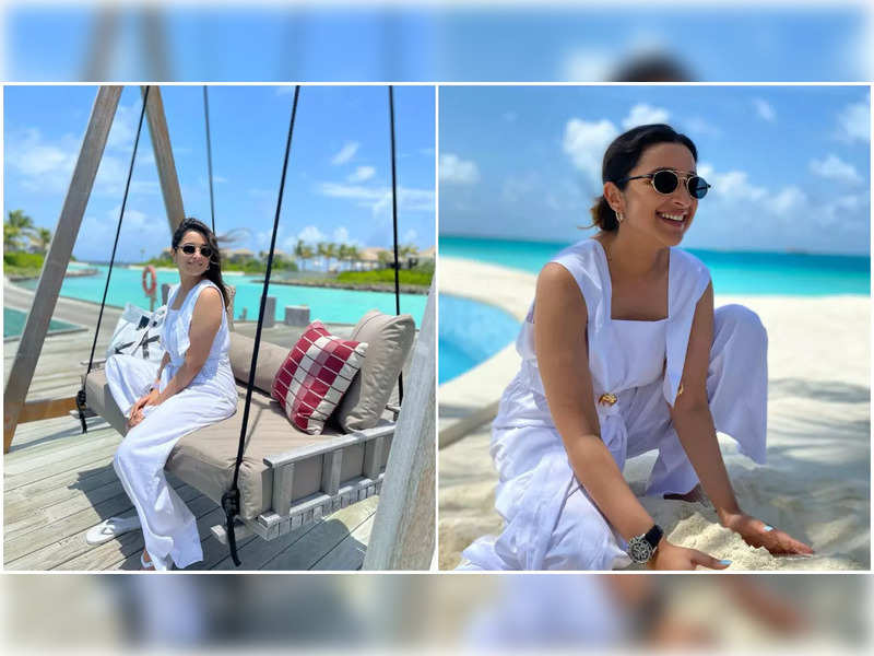 Parineeti Chopra is a bundle of sunshine as she makes the most of her island vacay