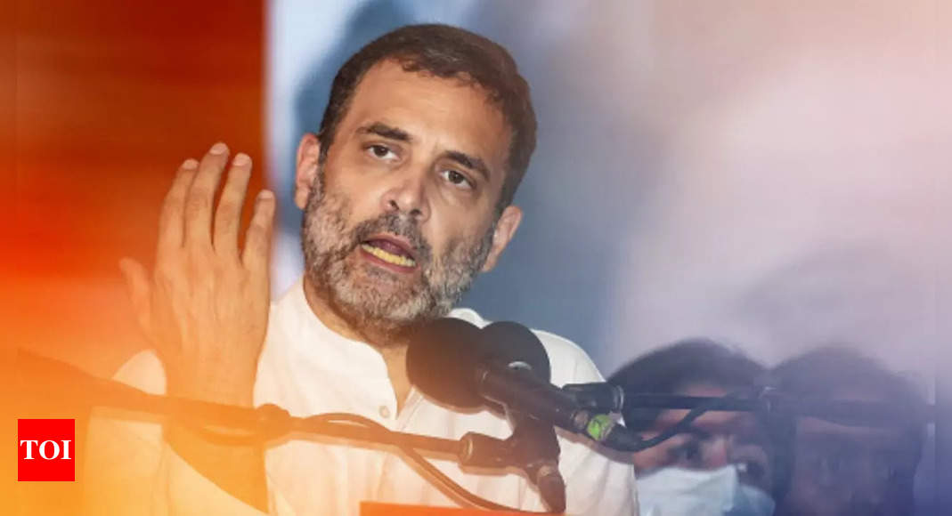 Assam is on state-sponsored fire: Rahul Gandhi | India News – Times of India