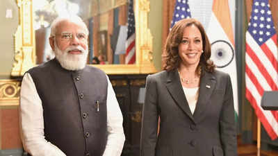 harris: US Vice President Kamala Harris, PM Modi talk up Indo-US ties at 1st in-person meeting | India News - Times of India