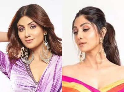 Shilpa Shetty is the queen of fusion saris