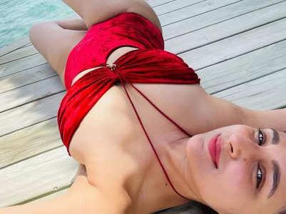 Parineeti looks ravishing in a red bikini