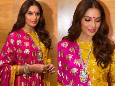 Bipasha Basu looks like a new bride in sharara set