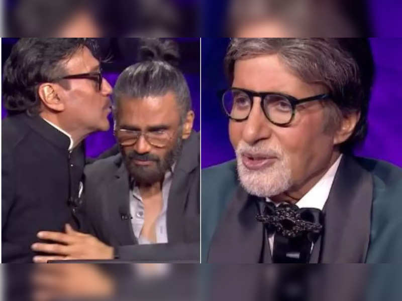 Jackie Shroff's words on his late mother make Suniel Shetty and Amitabh Bachchan emotional on KBC 13