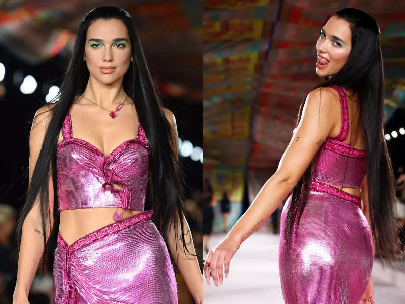 MFW: Dua Lipa makes her runway debut at Versace show