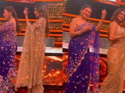 Madhuri dances to 'Maye Ni Maye' with Mouni