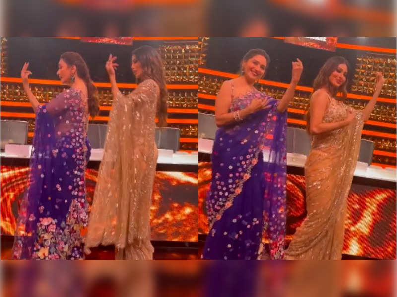 Madhuri Dixit dances to her popular song 'Maye Ni Maye' with Mouni Roy on Dance Deewane 3, watch their graceful moves