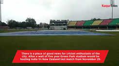 Green Park stadium gets prepared for test match