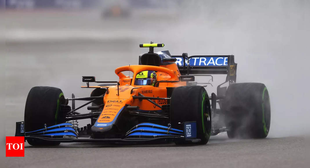 McLaren's Lando Norris takes his first F1 pole in Russia
