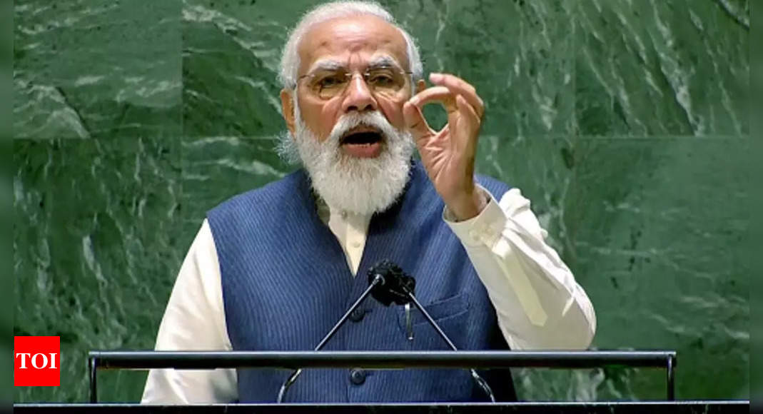 PM Modi invokes Deen Dayal's 'Antyoday' in UN address