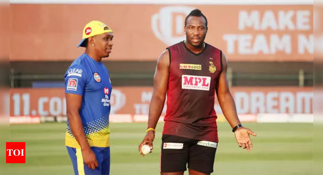 IPL 2021: Dwayne Bravo vs Andre Russell will be key in CSK-KKR match | Cricket News – Times of India